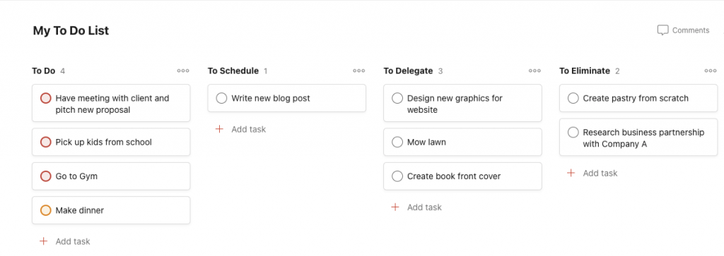 Todoist Prioritized To Do List