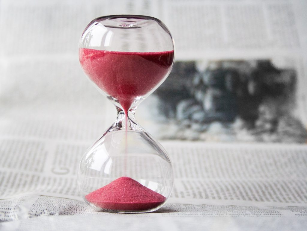 Hourglass time management